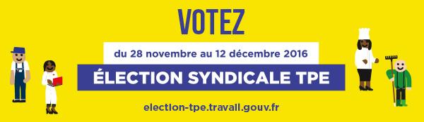 Elections syndicales TPE du 28 novembre au 12 décembre 2016