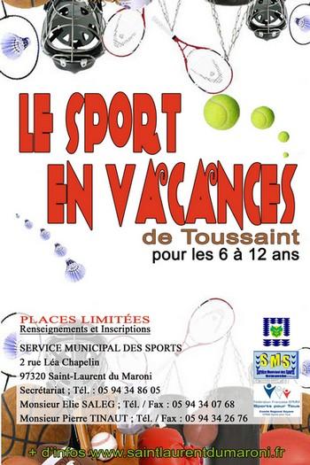 Le sport en vacances... de Toussaint