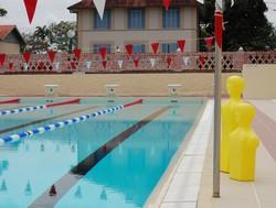 La piscine en travaux