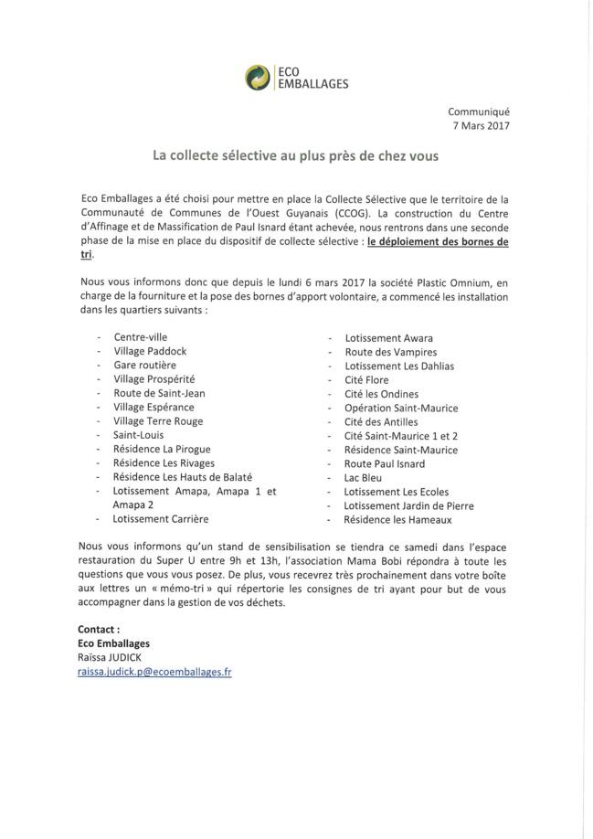 CCOG - Déploiement des bornes de tri sélectif à Saint-Laurent