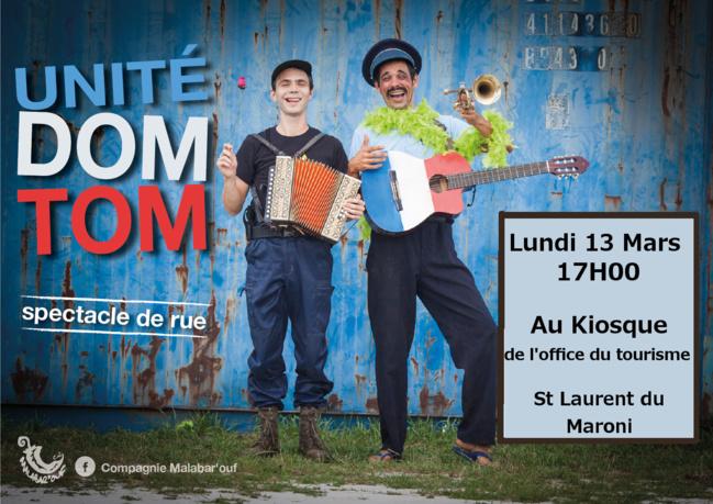 Venez découvrir le 13 mars le spectacle Unité DOM-TOM de la compagnie Malabarouf