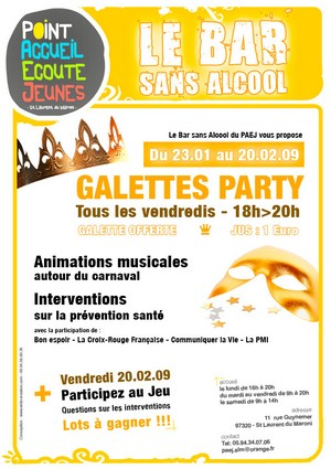 Galettes party tous les vendredis au PAEJ
