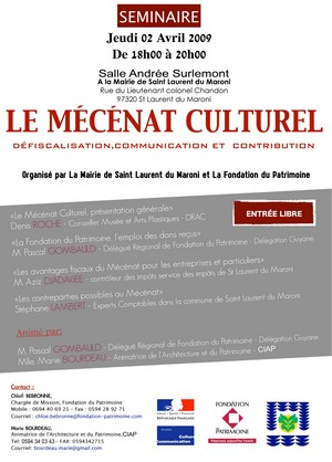 """Séminaire sur le Mécénat Culturel"""""""