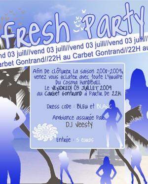 Fresh party avec le Cosma Handball