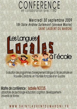 """Conférence sur les """"langues locales à l'école"""""""