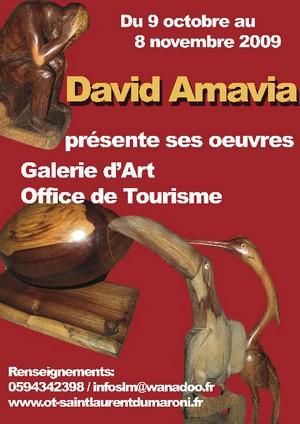 David AMAVIA expose ses oeuvres à l'Office de Tourisme