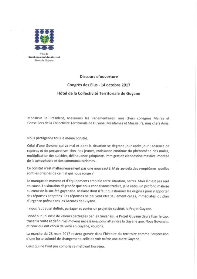 Congrès des élus, Etats-Généraux et Projet Guyane