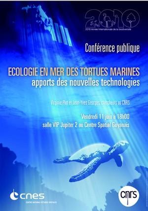 "Conférence ""Les tortues marines vues de l'espace"" - vendredi 11 juin à Jupiter 2"