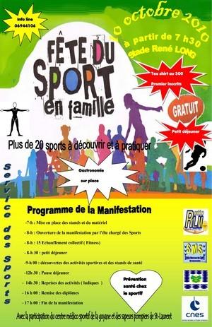 Fête du sport en famille - Dimanche 10 octobre
