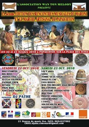 Rencontres Musicales du Maroni et Marché artisanal de Papaïchton - 22 et 23 Octobre