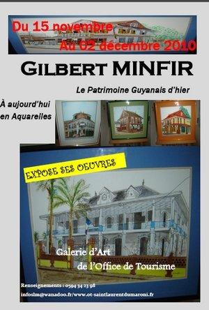 Exposition des oeuvres de Monsieur Gilbert MINFIR du Lundi 15 novembre 2010 au Jeudi 02 décembre 2010