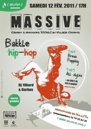MASSIVE Battle Hip-Hop à Saint-Laurent du Maroni, le Samedi 12 Février 2011.