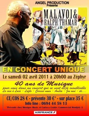 MALAVOI et Orlane en concert le Samedi 02 Avril 2011 à 20H00 au Zéphyr.
