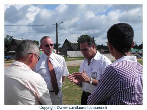 Denis LABBE, Préfet de Guyane était en visite à Saint-Laurent du Maroni