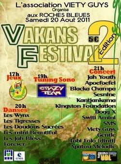"Podium vacances : ""Vakans Festival 2nde édition"" organisé par l'Association VIETY GUYS"