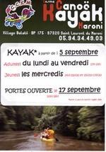 Reprise des activités sportives du COSMA CANOE-KAYAK du Maroni pour l'année 2011-2012.