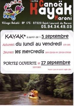 Reprise de l'activité Canoë-Kayak