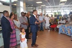 Léon Bertrand en visite à l'EHPAD de Cayenne, ce jeudi 29 septembre 2011