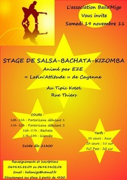 Stage de Salsa avec l'Association Baila'Migo
