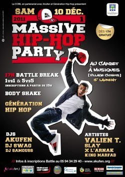 Massive Hip Hop Party 1, ce Samedi 10 décembre 2011.