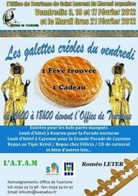 Soirées galettes créoles 2012 organisée par l'Office de Tourisme de Saint-Laurent du Maroni.
