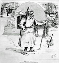 Représentation du Père Noël en 1875