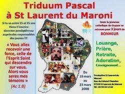 19 au 23 mars : Triduum Pascale