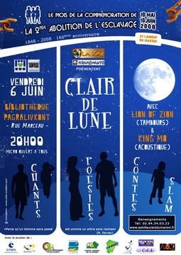 Soirée slams, contes au Clair de Lune