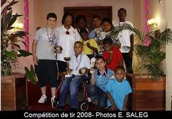 8 licenciés du Cosma Tir, champions de Guyane