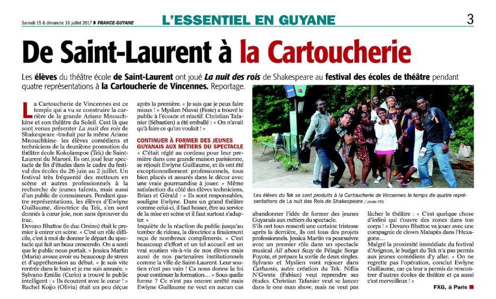 Les élèves du TEK à Paris