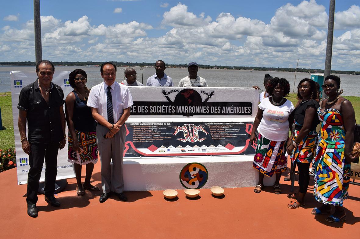 Retour sur la cérémonie autour du monument des Sociétés marronnes des Amériques