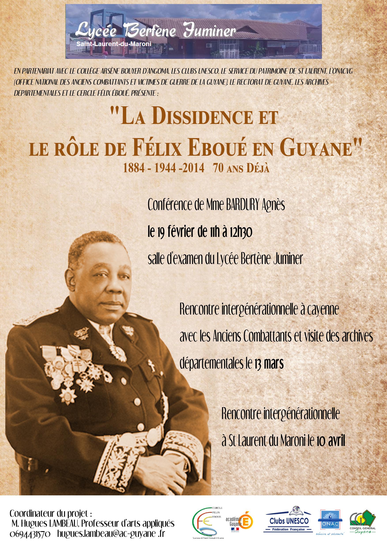La dissidence et le r le de f lix ebou en guyane - L office national des anciens combattants et victimes de guerre ...