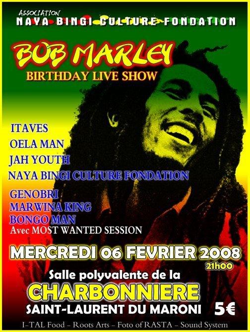 Bob Marley birthday live show