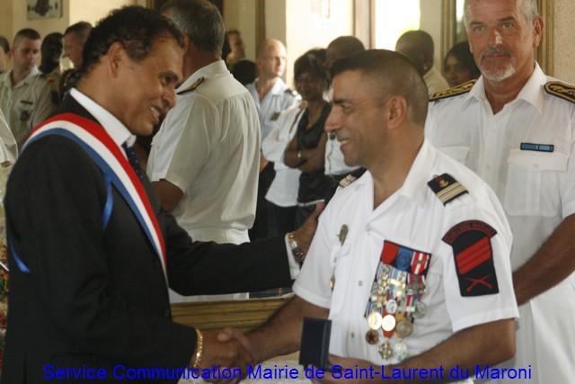 Passation de commandement du chef de corps du GSMA
