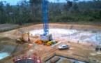 avancement du chantier de la nouvelle STEP ( station d'épuration des eaux usées ) de la ville de Saint-Laurent du Maroni