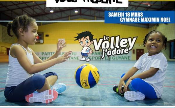 Le 17 mars venez faire découvrir le volley-ball à vos enfants !