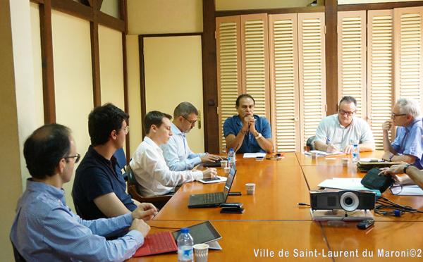 Accords de Guyane : Monsieur le Maire informe une délégation interministérielle des actions à engager pour Saint-Laurent et la Guyane