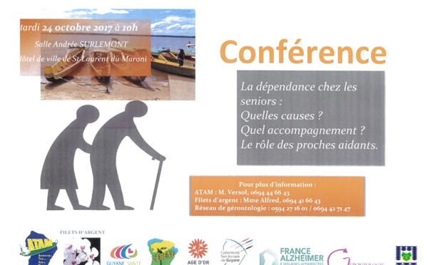 Mardi 24 octobre : conférence autour de la dépendance chez les seniors