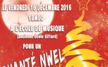 Vendredi 16 décembre : venez assister au Chanté Nwel de l'Ecole de musique !
