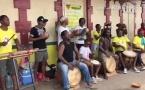 [Mois de la commémoration de la seconde abolition de l'esclavage en Guyane] : retour en vidéo sur la prestation de tambours au marché