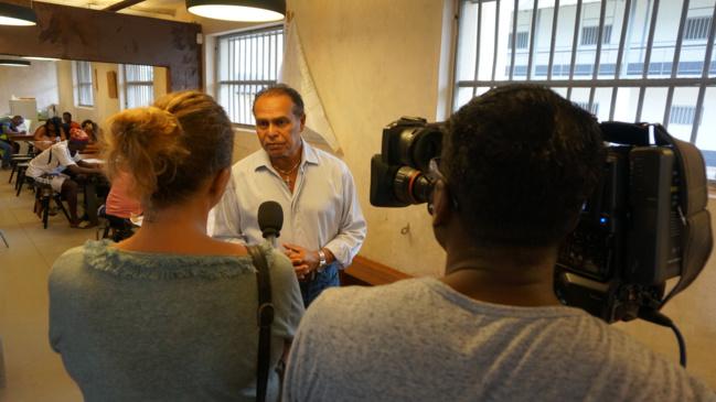 Monsieur le Maire avec Guyane 1ere TV