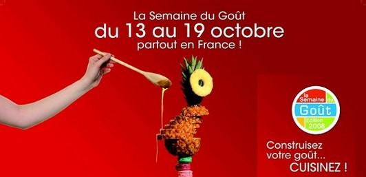 19ème édition de la Semaine du goût du 13 au 19 octobre.