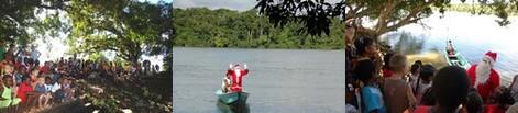 Le Père Noël à Terre-Rouge