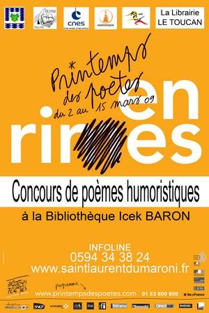 11ème Edition du Printemps des Poètes - Un concours ouvert jusqu'au 31 Mars