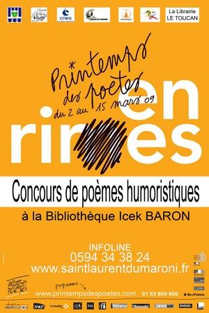 """Déposer vos poèmes humoristiques jusqu'au 31 mars """"En rires"""""""
