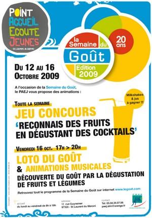 Pour la deuxième année consécutive, le PAEJ participe à la Semaine du goût du 12 au 16 octobre.