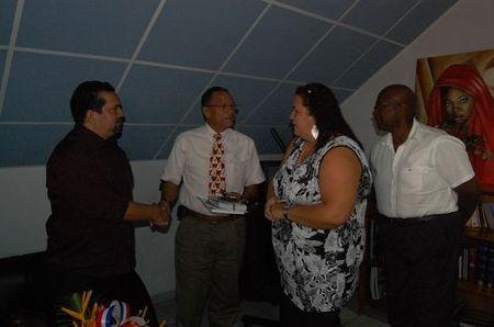 Visite du consul de Sainte-Lucie à Saint-Laurent du Maroni