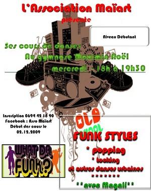 Cours de danse Funk styles avec l'Association Maïart
