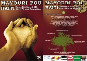 """""""Mayouri pou Haïti"""" à la place des Amandiers"""