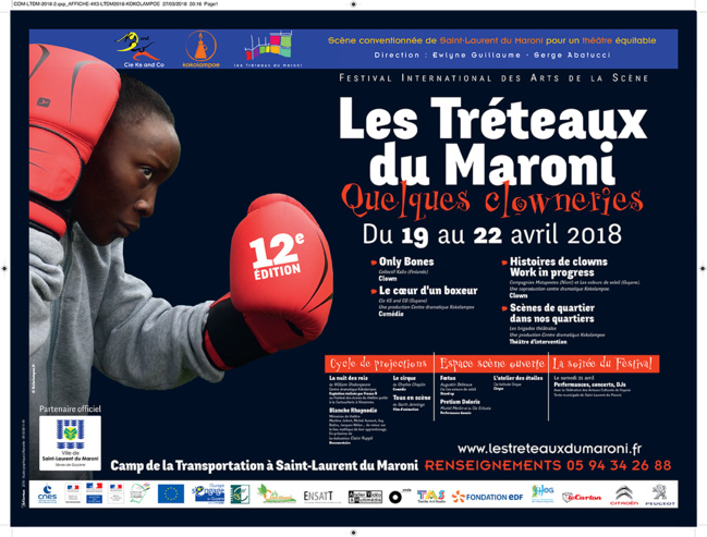 """A vos agendas ! Du 19 au 22 avril : 12ème édition du festival """"Les Tréteaux du Maroni"""""""